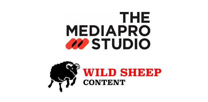Logotipos de las compañías productoras The Mediapro Studio y Wild Sheep Content