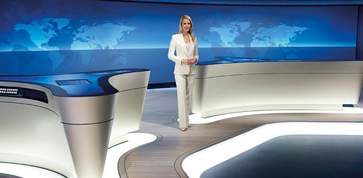 Uno de los platós de informativos de ARD