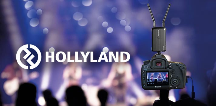 Dispositivo de transmisión desarrollado por la marca Hollyland retransmitiendo un concierto