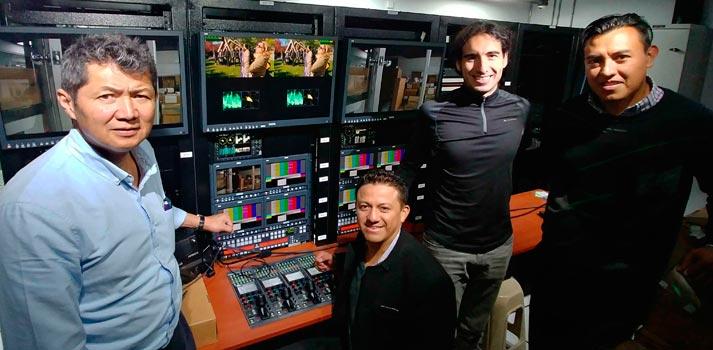 Equipo humano que ha llevado a cabo la integración de equipamiento de AEQ en Ecuador TV