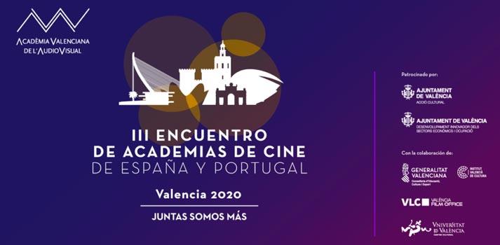 Tercer encuentro de academias de cine de España y Portugal cartel promocional