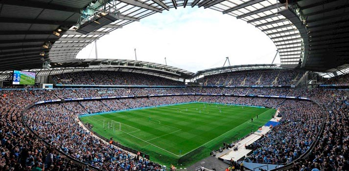 Interior del Etihad Stadium del Manchester City