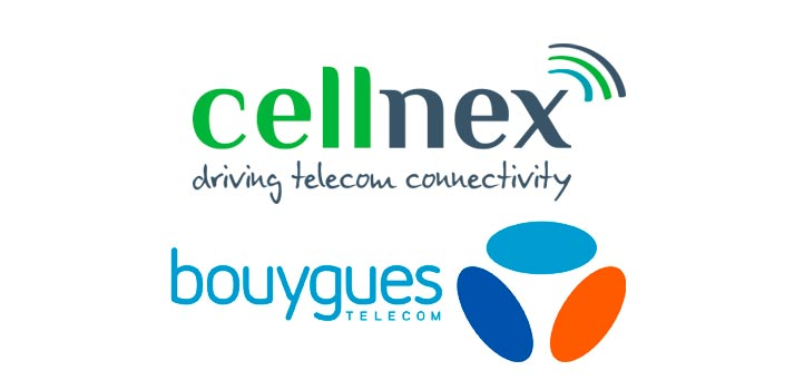 Logotipos de Cellnex y Bouygues Telecom