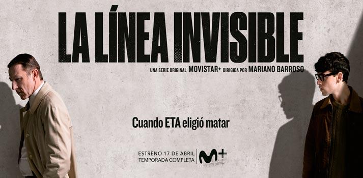 """Cartel promocional de la nueva serie original de Movistar+: """"La línea invisible"""""""