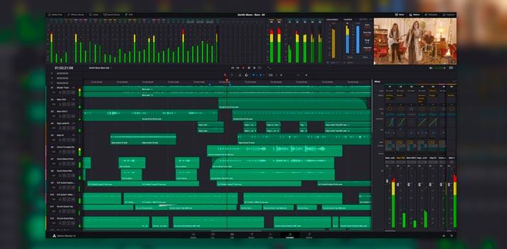 Versión 16.2 de DaVinci Resolve, programa que incluye nuevas herramientas en el módulo Fairlight