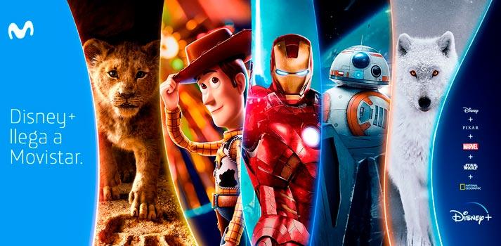 Selección de contenidos de Disney + que estarán disponibles a través de la plataforma de Movistar+