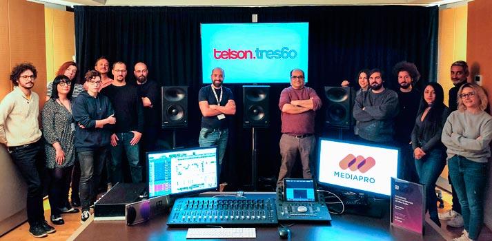 Salas Telson.tres60 preparadas para Dolby Atmos con equipos de Genelec