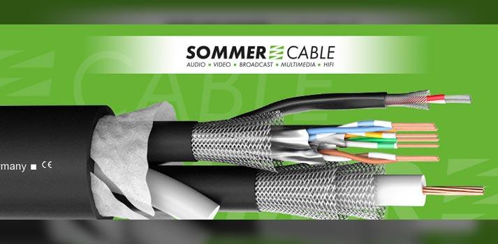 Vista del nuevo cable TRANSIT-MC-1101-UHD-SDI de Sommer Cable