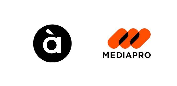 Logotipos de la televisión À Punt y Mediapro