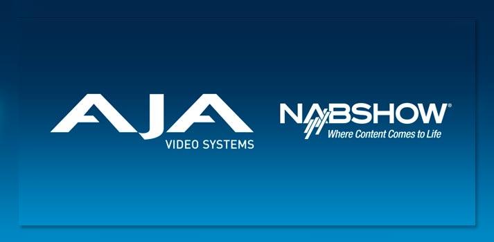 Logotipos de AJA y NAB Show