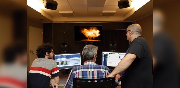 Una de las salas Atmos HOme certificadas por Dolby en Telson con Eduardo Castro, Pelayo Gutiérrez y Alberto Ovejero