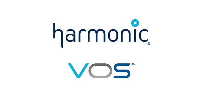 Logos de Harmonic y VOS