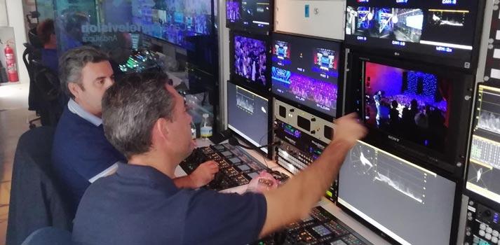 Unidad móvil de Canal Sur con equipamiento de Sony