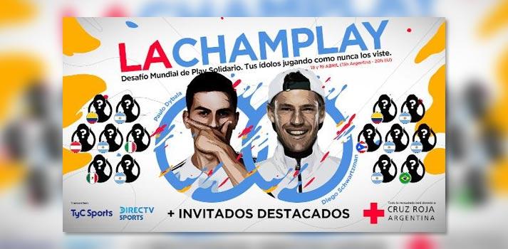 """Cartel del torneo de esports retransmitido en remoto por el grupo Mediapro """"La ChamPlay Solidaria"""""""