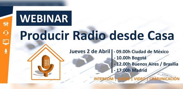 Producir radio desde casa, webinar de AEQ