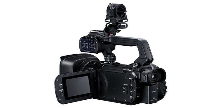 Vista trasera de la Canon XA 55