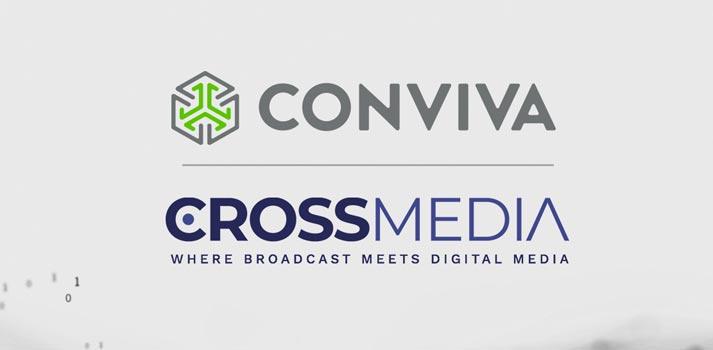 Logos acuerdo entre Conviva y Crossmedia