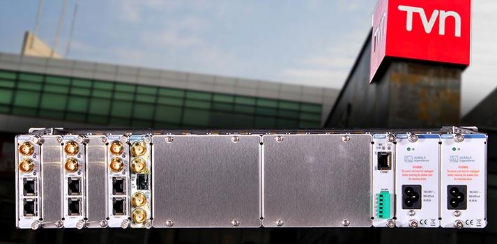 Uno de los equipos de Albalá Ingenieros implementados por la Televisión Nacional de Chile