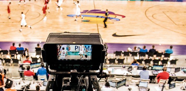 Plano máster FIBA Media - Partido de baloncesto