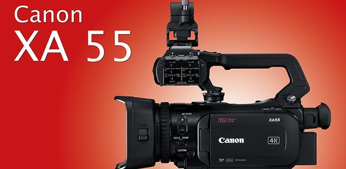 Presentación del análisis TM Broadcast de la Canon XA 55