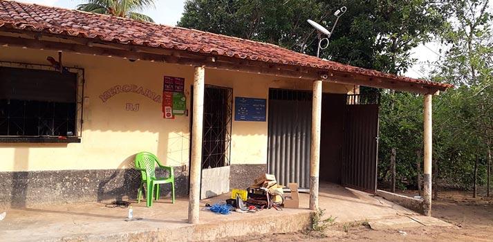 Uno de los puntos de acceso wifi distribuidos en Brasil por Hispasat y EasyTV
