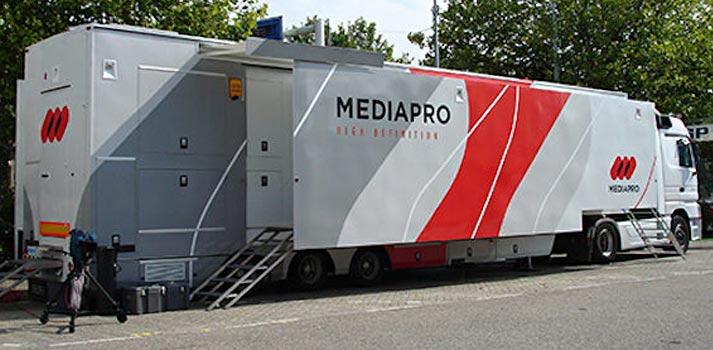 Una de las últimas unidades móviles de Mediapro