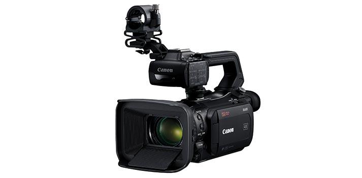 Vista frontal de la Canon XA 55