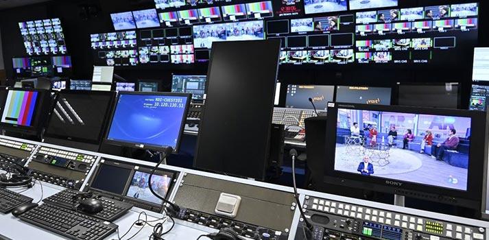 Sala de control de Mediaset España