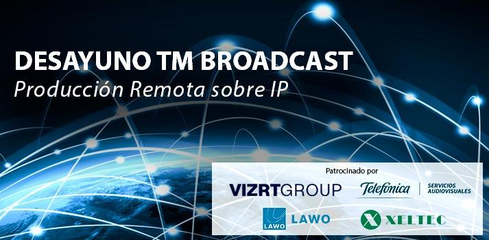 Anuncio desayuno TM Broadcast Produccion Remota sobre IP con Patrocinadores