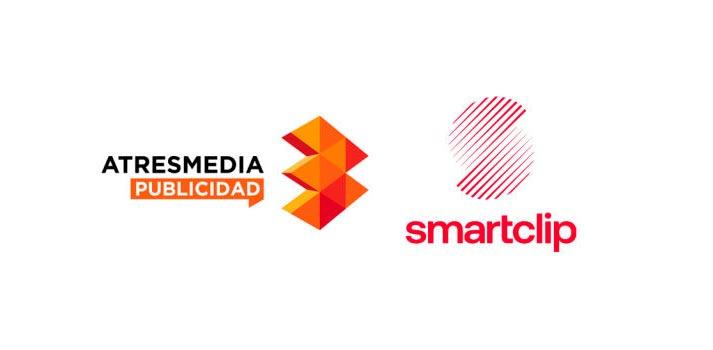 Logotipos de Atresmedia publicidad y Smartclip