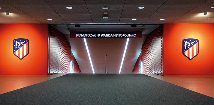 Tunel de vestuario del estadio Wanda Metropolitano de Madrid