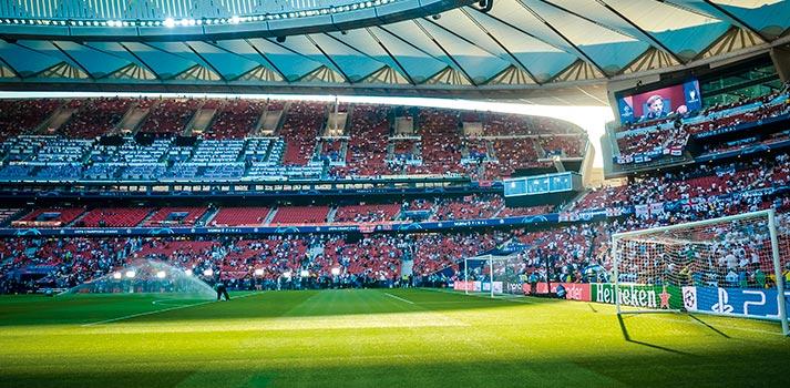 Estadio Wanda Metropolitano del Atlético de Madrid con público