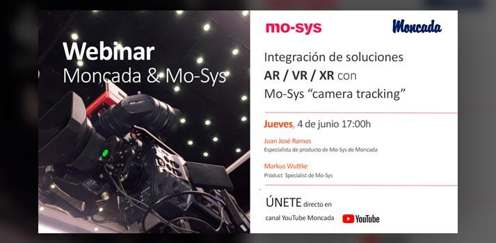 Anuncio de webinar Moncada y Mo-Sys
