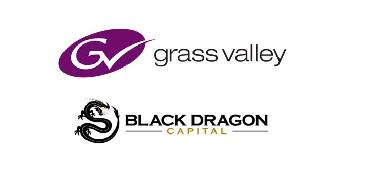 Logotipo de Grass Valley y Black Dragon Capital