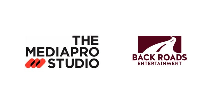 Logotipo de The Mediapro Studio y de Back Roads Entertainment