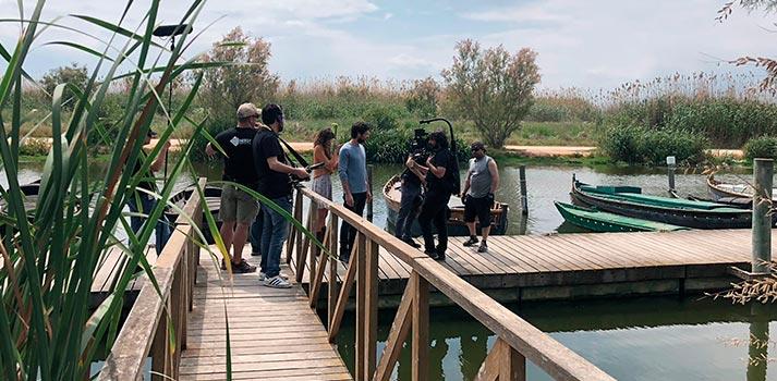 Rodaje de El Embarcadero, una producción original de Atresmedia Studios