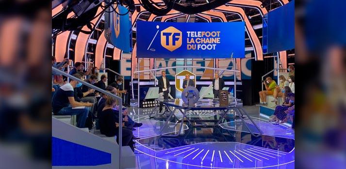 Uno de los platós de Telefoot, nueva cadena impulsada por el Grupo Mediapro