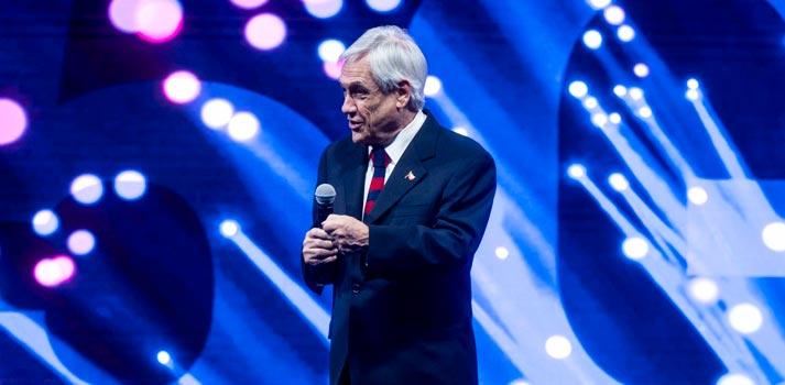 Evento sobre el impulso del 5G en Latinoamérica protagonizado por el presidente de Chile Sebastián Piñera