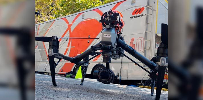 Solución técnica de dron - Overon Aerial - Grupo Mediapro
