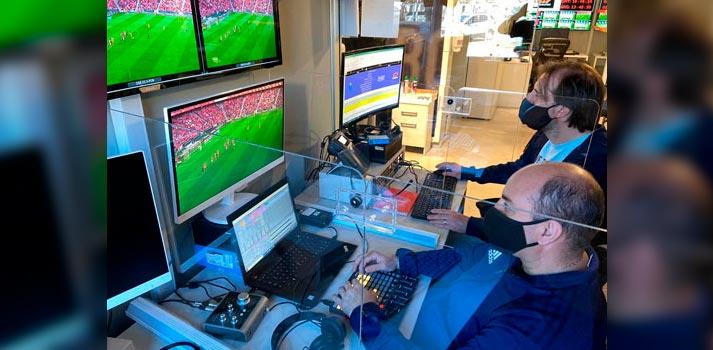 Integración de gráficos y audio en Copa Libertadores desde el HUB de Mediapro Argentina