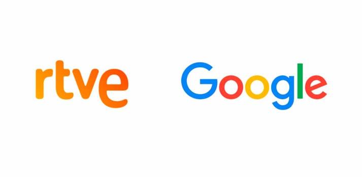 Logotipos de RTVE y Google