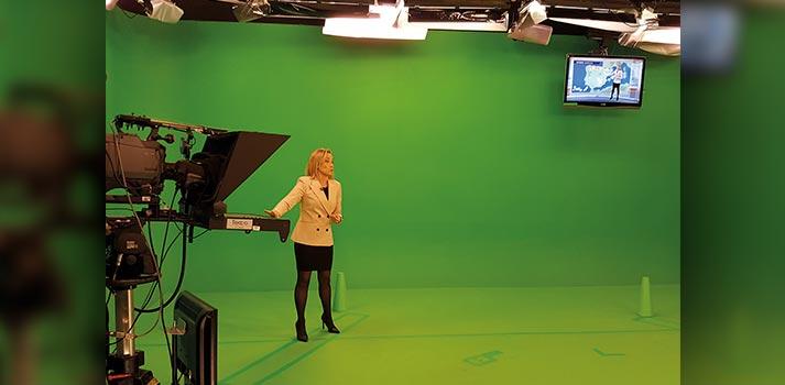 Plató virtualizado ubicado en las instalaciones de Aragón TV
