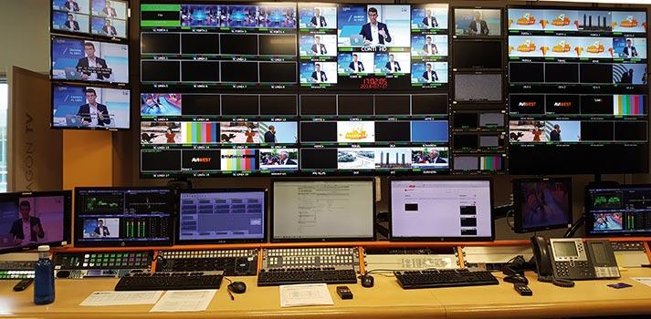Sala de control de Aragón TV