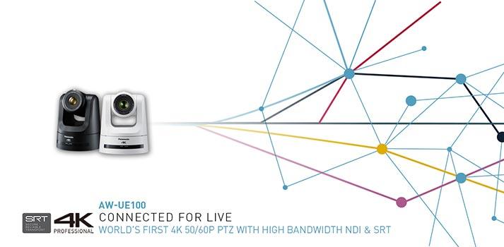 Imagen promocional de las nuevas PTZ AW-UE100 de Panasonic
