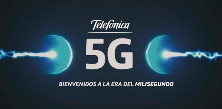 Imagen promocional tecnología 5G de Telefónica