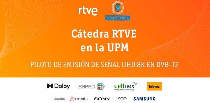 Emisión Cátedra RTVE 8K - DVB-T2. Empresas participantes