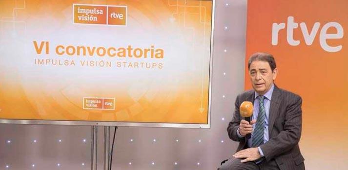 Federico Montero presentando en sociedad la nueva convocatoria de Impulsa Visión