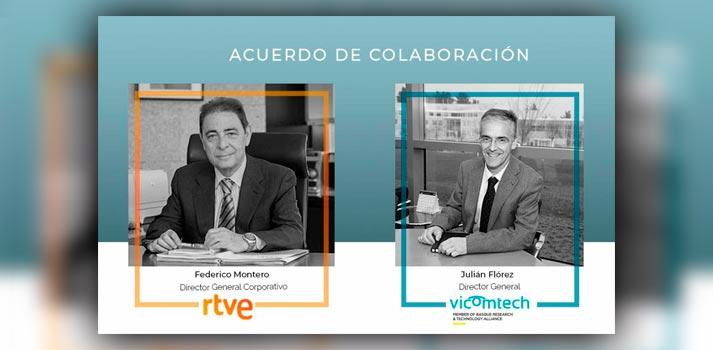 Acuerdo de colaboración entre RTVE y Vicomtech