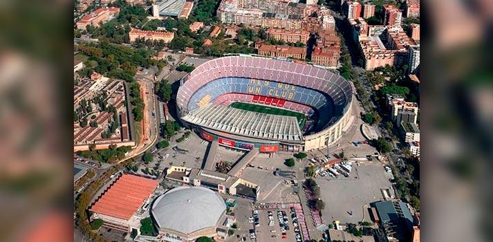Imagen aérea del Camp Nou, estadio del Fútbol Club Barcelona