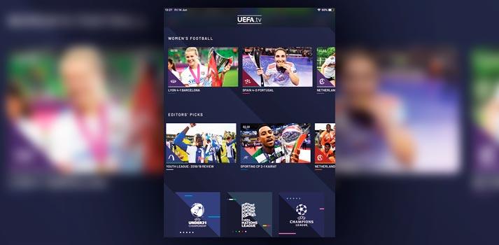 Interfaz de usuario de UEFA.tv